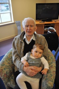 Father Frank and great grand-daughter Scarlett