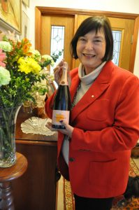 Nadine Williams OAM, (Vve Foubert). At home with Veuve Cliquot to share.
