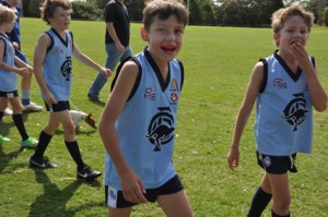 Angus at footy practice