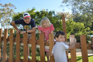 From left Samuel, Josephine and Angus - my grandchildren in Brisbane