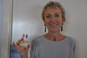 Sue Crafter at the Bastille Day Breakfast