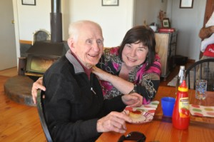 Dad and me on his 94th birthday