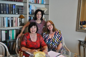 Signing my publishing contract with Harlequin at  the Sydney home of my agent Selwa Anthony (standing).